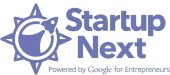 Startup Next (blue with background 600x600)